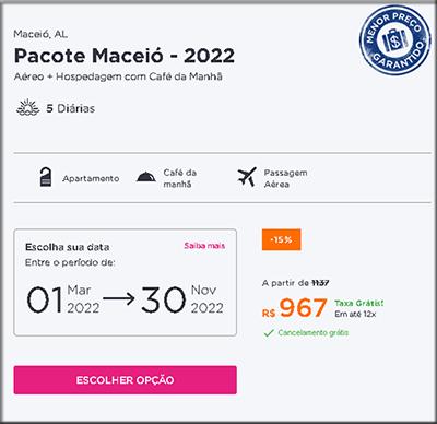 Pacote de Viagem Maceió Aéreo