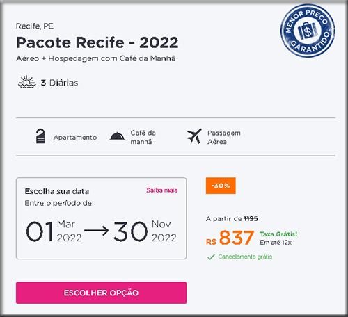 Pacote de Viagem Recife Aéreo